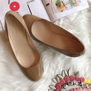 Kate Spade Tan Patent Leather Wedges Heels 10B